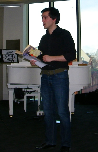Cpt. Pinnow Recitation in the Cardiff Central Library Concert