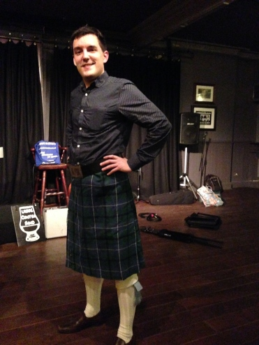 Cpt. Pinnow in a Kilt!